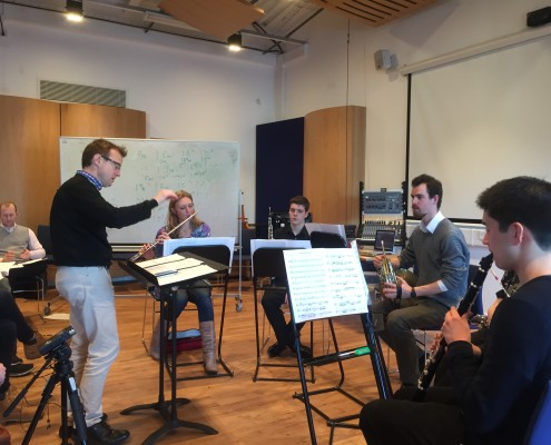 The ensemble at work at Middlesex University