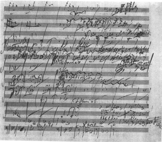 Beethoven sketch of Sixth Symphony