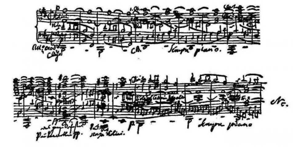 Mendelssohns manuscript sketch 6 August 1829