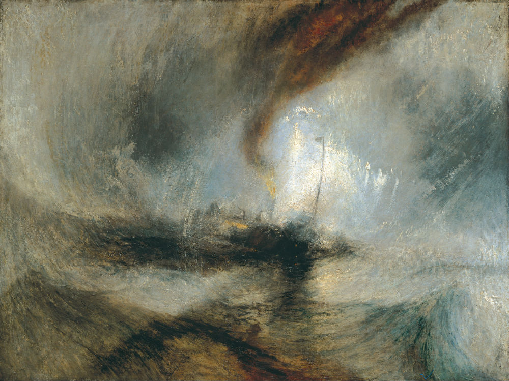 Snow Storm: Steam-Boat off a Harbour's Mouth by Turner 1842