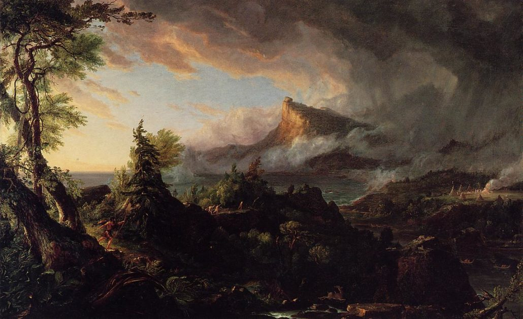 The Course of Empire - The Savage State by Thomas Cole 1836