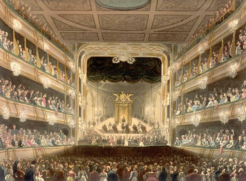 Covert Garden Theatre where Ariodante was first performed and Giovanni Carestini
