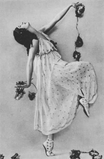 Pavlova Anna as a bacchante in The Seasons