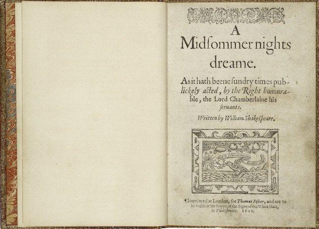 First edition of Shakespeare's play
